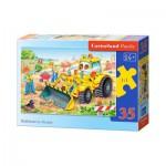 Puzzle  Castorland-B-035168 Bulldozer en Action