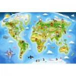 Puzzle  Castorland-B-040117 Pièces Maxi - Carte du Monde