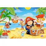 Puzzle  Castorland-B-040148 Pièces XXL - Le Trésor des Pirates