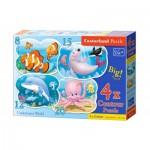 Castorland-B-043026 4 Puzzles - Underwater World