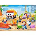 Puzzle  Castorland-B-06809 Chantier de Construction