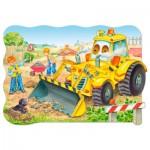 Puzzle  Castorland-C-02139 Pièces maxi - Bulldozer en action