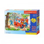 Puzzle  Castorland-C-02146 Pièces Maxi - Brigade des pompiers