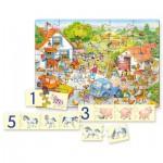 Puzzle  Castorland-E-128 Apprendre à compter avec la Ferme