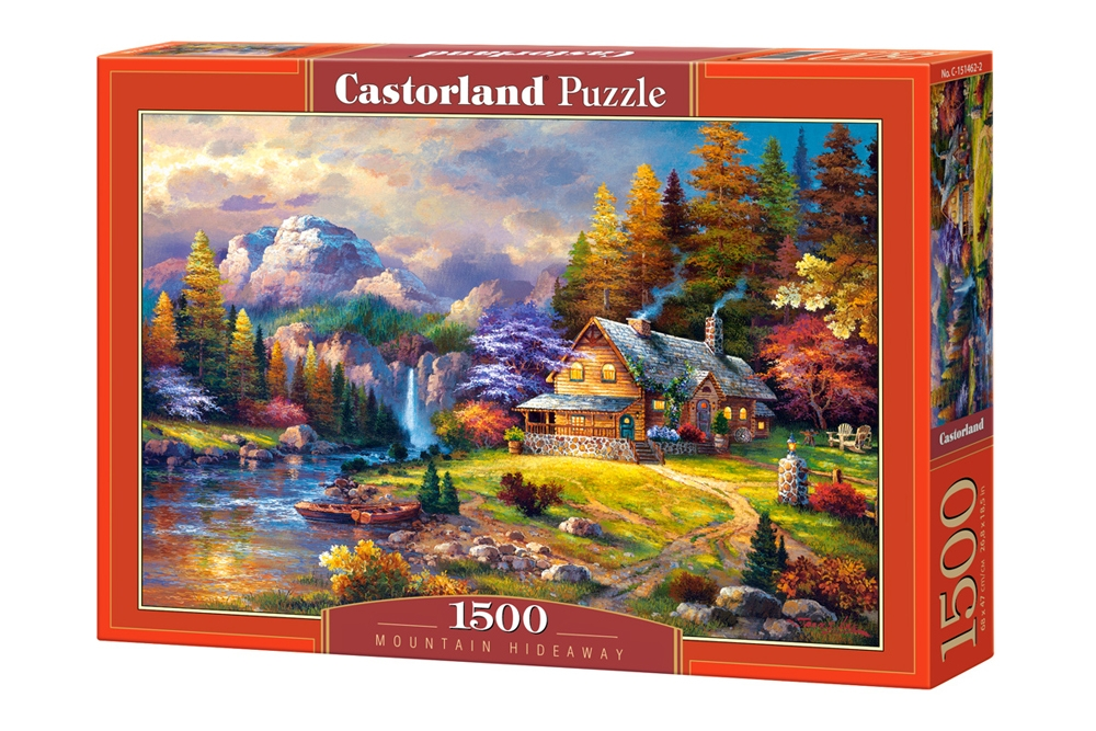 cottage mountain hideaway 1500 teile castorland puzzle. Black Bedroom Furniture Sets. Home Design Ideas