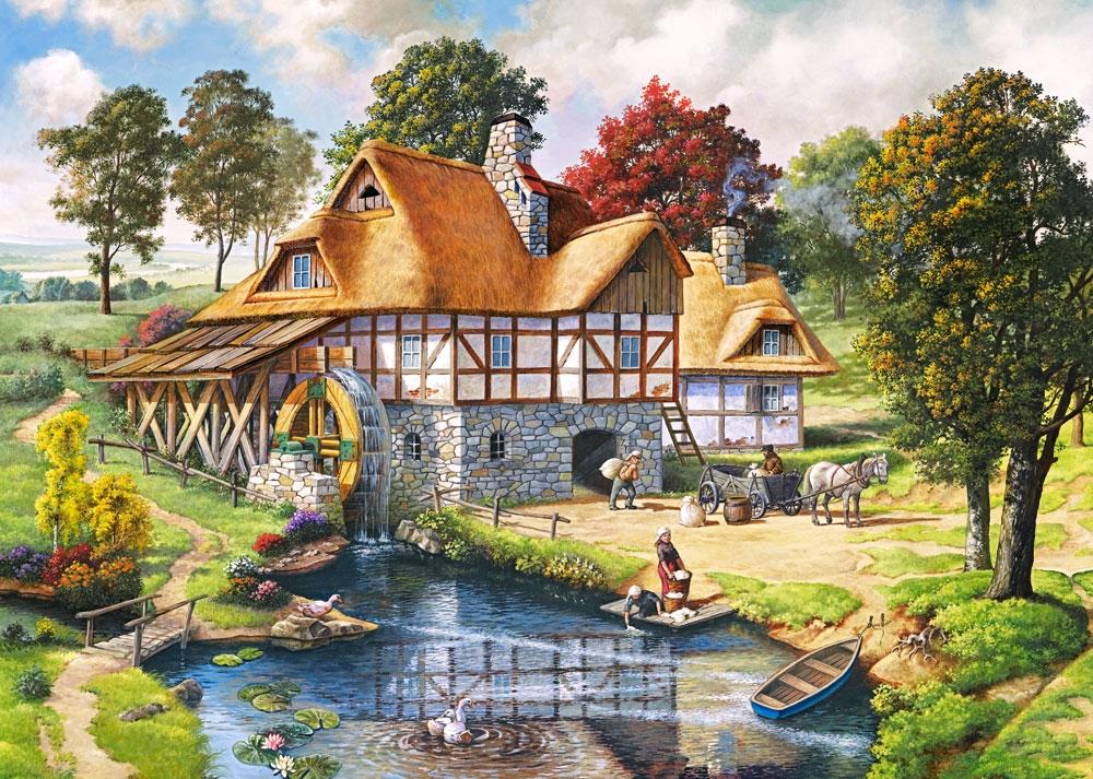 Le Moulin 224 Eau 2000 Teile Castorland Puzzle Acheter