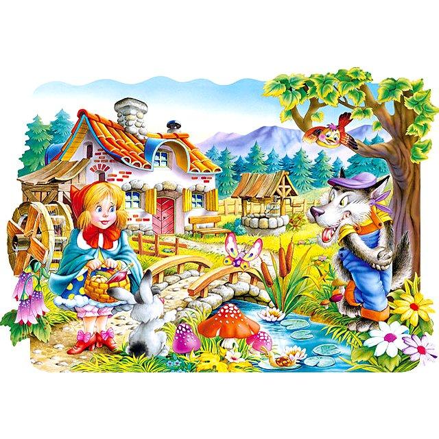le petit chaperon rouge 20 pi ces tapis puzzle castorland puzzle acheter en ligne. Black Bedroom Furniture Sets. Home Design Ideas
