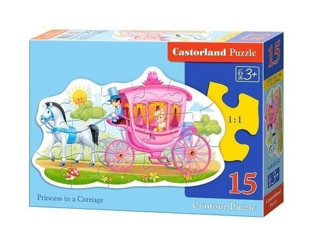 princesse dans son carrosse 15 teile castorland puzzle acheter en ligne. Black Bedroom Furniture Sets. Home Design Ideas