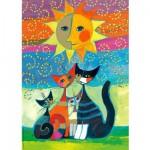 Puzzle  Heye-29158 Chats sous le soleil