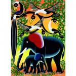 Puzzle  Heye-29458 Famille d'éléphants