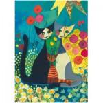 Puzzle  Heye-29616 Rosina Wachtmeister : le parterre de fleurs