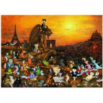 Puzzle  Heye-29750 Sven Hartmann: Cats in Paris