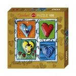 Puzzle  Heye-70858-29763 Stefanie Steinmayer - Hearts of Gold - 4 Times