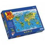 Puzzle  Gibsons-G1050 Carte du Monde