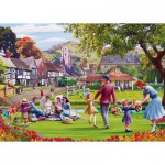 Puzzle  Gibsons-G3517 Pièces XXL - Mat Edwards: Picnic on the Green