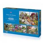 Gibsons-G5025 4 Puzzles - John Francis : Flore et Faune