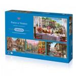 Gibsons-G5039 4 Puzzles - Dominic Davison: Paris & Venise