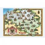 Puzzle  PuzzelMan-094 Carte illustrée de la Belgique