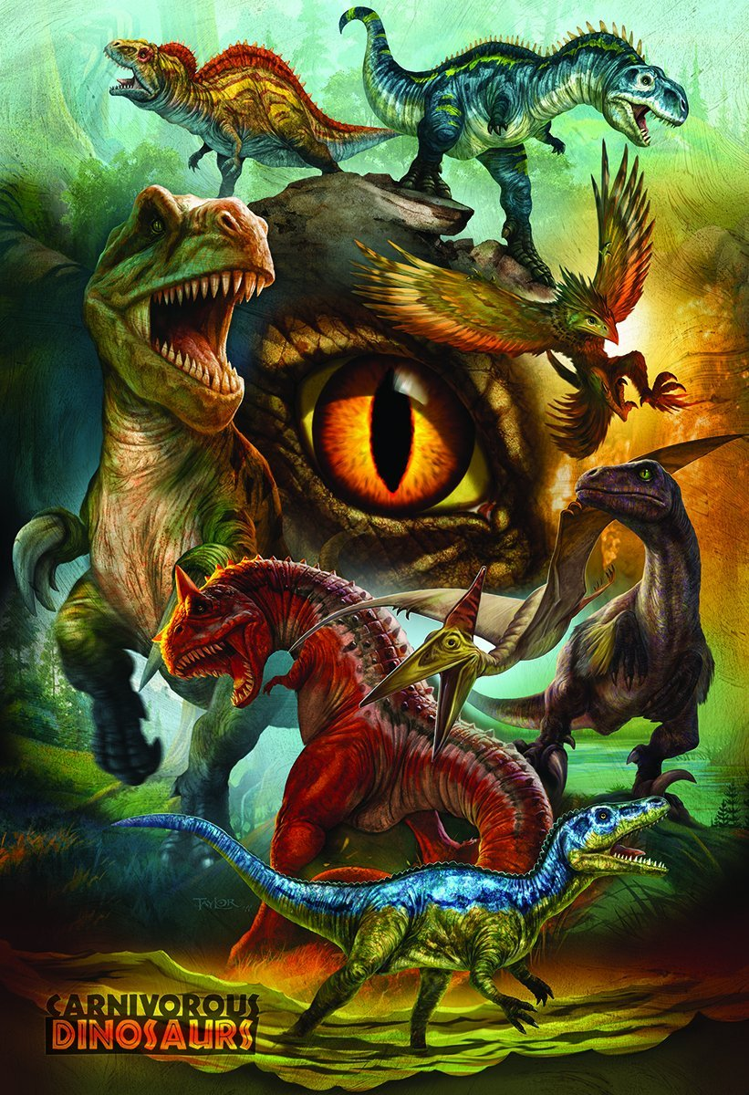 Dinosaures carnivores 100 teile eurographics puzzle - Liste des dinosaures carnivores ...