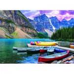 Puzzle  Eurographics-6000-0693 Canoë sur le Lac