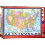 Puzzle  Eurographics-6000-0788 Carte des Etats-Unis