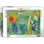 Puzzle  Eurographics-6000-0848 Marc Chagall - Les Amoureux de Vence