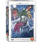 Puzzle  Eurographics-6000-0852 Marc Chagall - Le Violoniste Bleu
