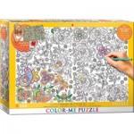 Puzzle  Eurographics-6033-0883 Color Me XXL - Papillons Cachés