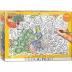 Puzzle  Eurographics-6033-0884 Color Me XXL - Plumes Majestueuses