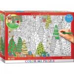 Puzzle  Eurographics-6033-0886 Color Me XXL - Arbres de Noël