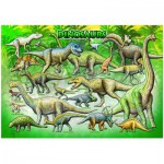 Puzzle  Eurographics-6100-0098 Dinosaures de la préhistoire