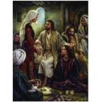 Puzzle  Eurographics-8000-0343 Nathan Greene : Aux Pieds de Jésus