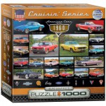 Puzzle  Eurographics-8000-0677 Cruisin Classics - 1960's