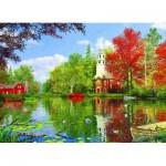 Puzzle  Eurographics-8000-0696 Dominic Davison : Réflexions au Bord du Lac