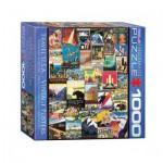 Puzzle  Eurographics-8000-0754 Travel USA Vintage