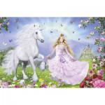 Puzzle  Schmidt-Spiele-55565 Princesse des licornes