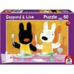 Puzzle  Schmidt-Spiele-55608 Gaspard et Lisa : Bon appétit