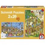 Puzzle  Schmidt-Spiele-56008 Chez les vikings