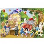 Puzzle  Schmidt-Spiele-56023 Fête au zoo