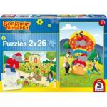 Schmidt-Spiele-56076 2 puzzles Benjamin Blümchen : S'amuser avec Benjamin