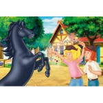 Puzzle  Schmidt-Spiele-56078 Bibi et Tina : L'étalon sauvage