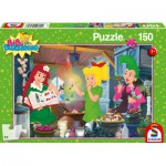 Puzzle  Schmidt-Spiele-56089 Bibi Blocksberg, Le Labo de Sorcière