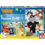 Schmidt-Spiele-56097 2 Puzzles - Benjamin l'Eléphant