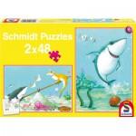 Puzzle  Schmidt-Spiele-56101 Petit requin blanc