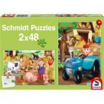Puzzle  Schmidt-Spiele-56125 Les Animaux de la Ferme