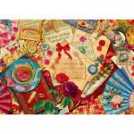 Puzzle  Schmidt-Spiele-58218 Lettres d'Amour Vintage