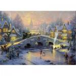 Puzzle  Schmidt-Spiele-58450 Village en hiver
