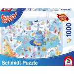 Puzzle  Schmidt-Spiele-59371 Sorgenfresser, Plaisirs de l'Hiver