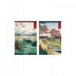 Puzzle-Michele-Wilson-A198-500 Puzzle en Bois - Hiroshige - Ecole Monghole: Le Jardin du Palais