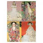 Puzzle-Michele-Wilson-A225-500 Puzzle en Bois - Klimt : Portrait de Femmes